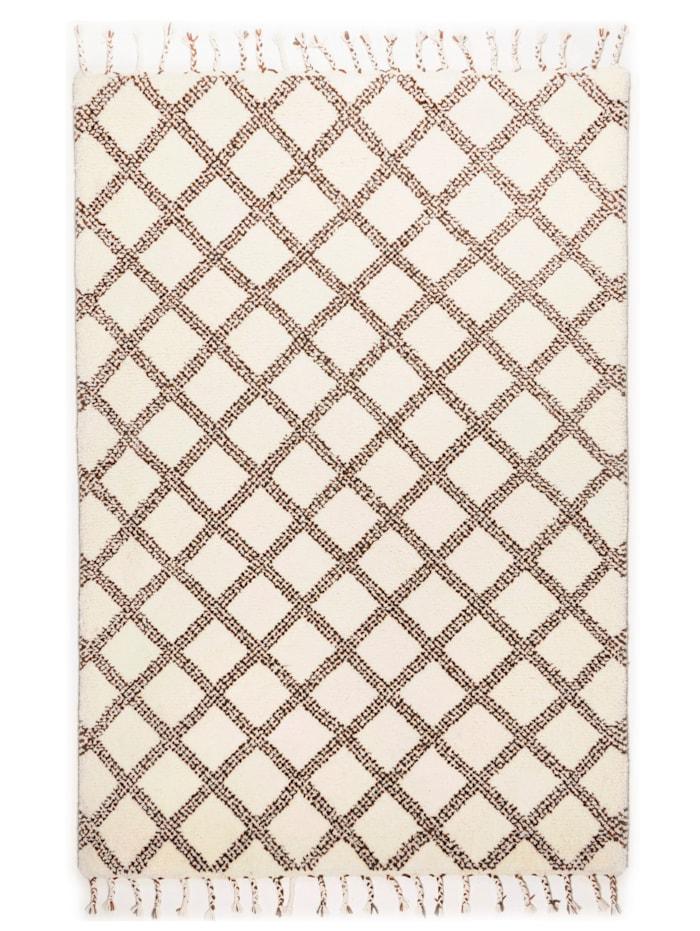 Theko®die Markenteppiche Wollteppich Yusuf, Weiß