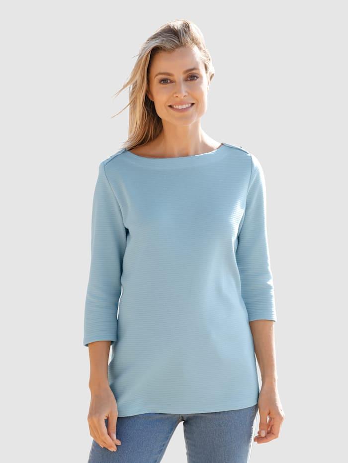 basically you Sweat-shirt en matière texturée, Bleu ciel