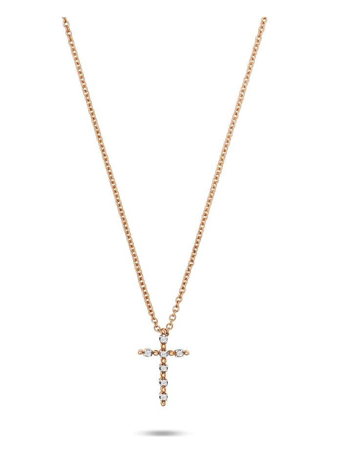 CHRIST C-Collection CHRIST Damen-Kette 7 Diamant, roségold