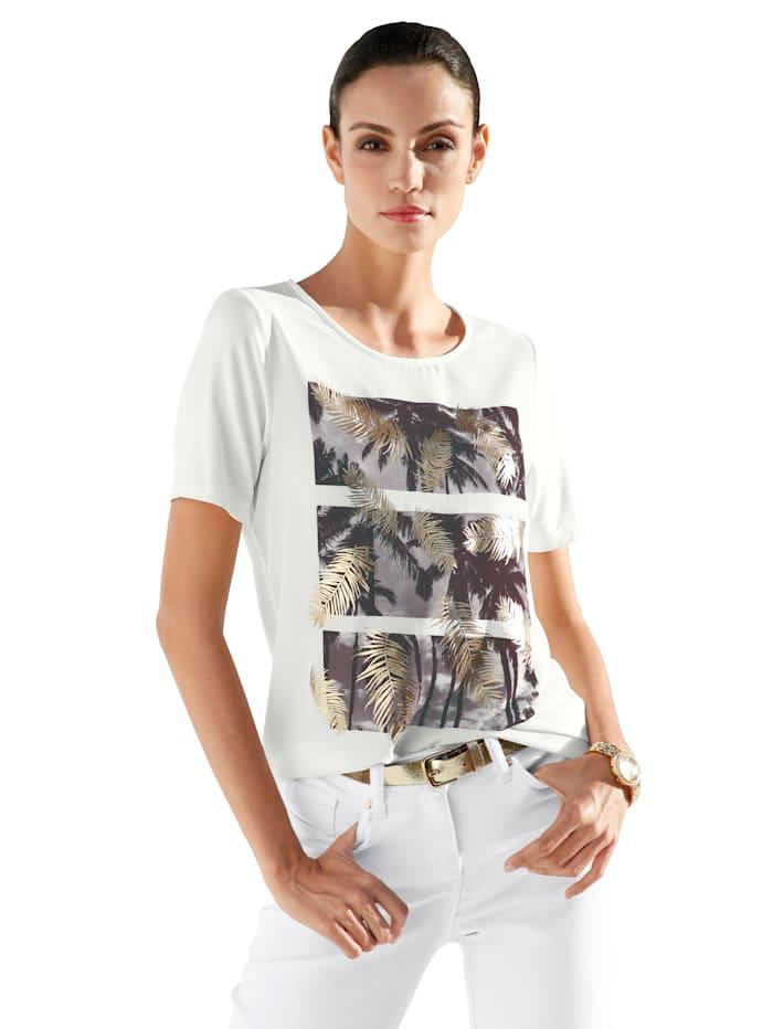 Shirt mit bedruckter Webware im Vorderteil