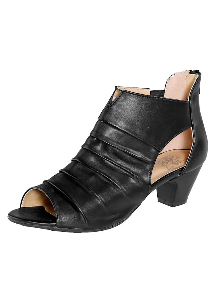 Sandale mit praktischem Fersenreißverschluss
