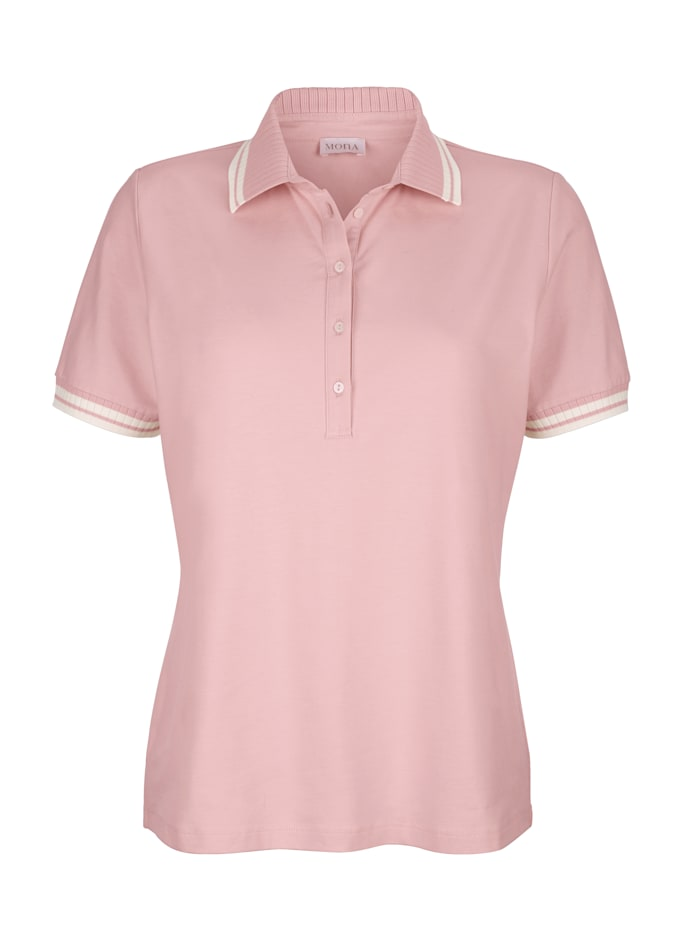 Polo shirt in cotton jersey