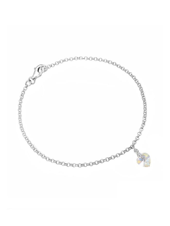 Armband Herz Kristalle 925 Sterling Silber