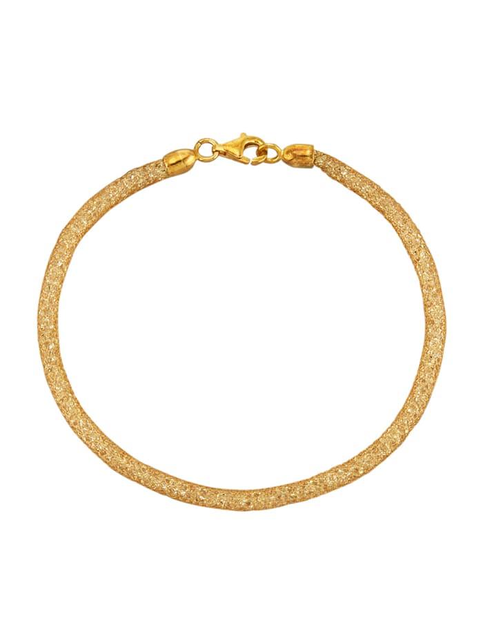 Mesharmband in Silber 925, Gelbgoldfarben
