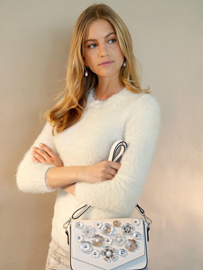 AMY VERMONT Pullover in flauschiger Qualität, Off-white