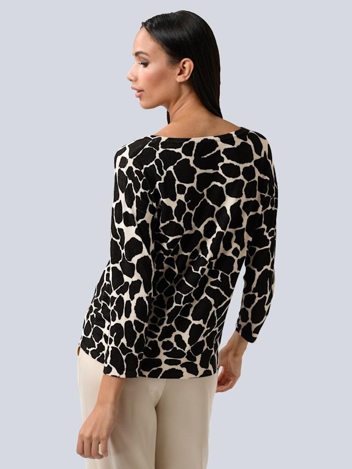 Pullover im modischen Animal Dessin