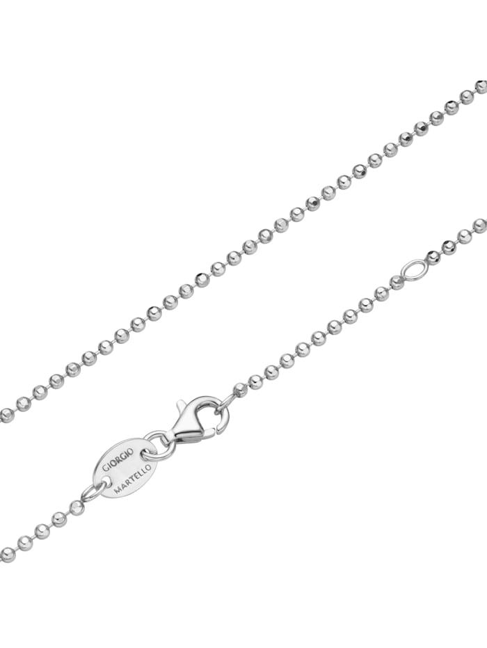 Giorgio Martello Kette diamantierte Kugelkette, Silber 925, Silber