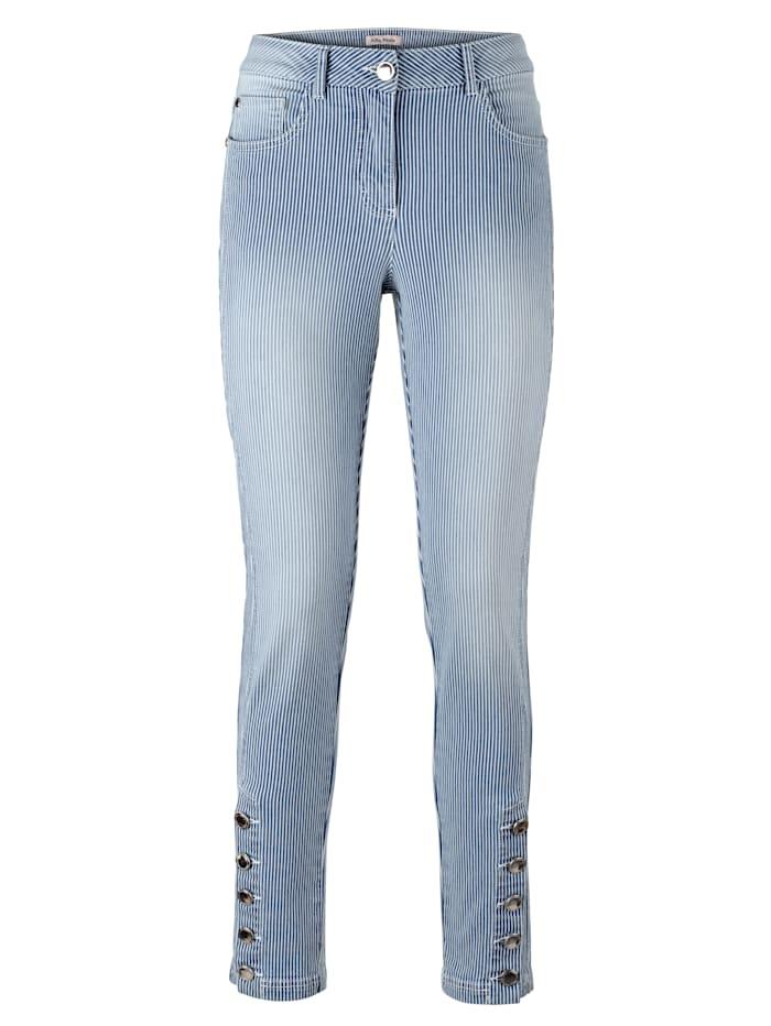 Jeans met streepdessin