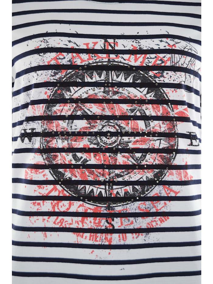 Shirt Ringel mit Motivdruck
