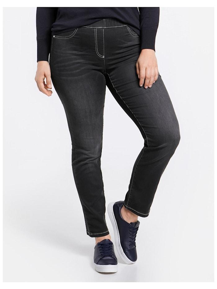 Samoon Jeggings Stretch-Jeans Lucy, Black Denim