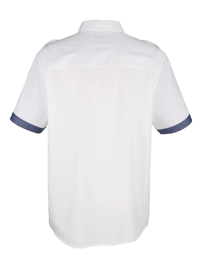 Overhemd met contrastkleurige print