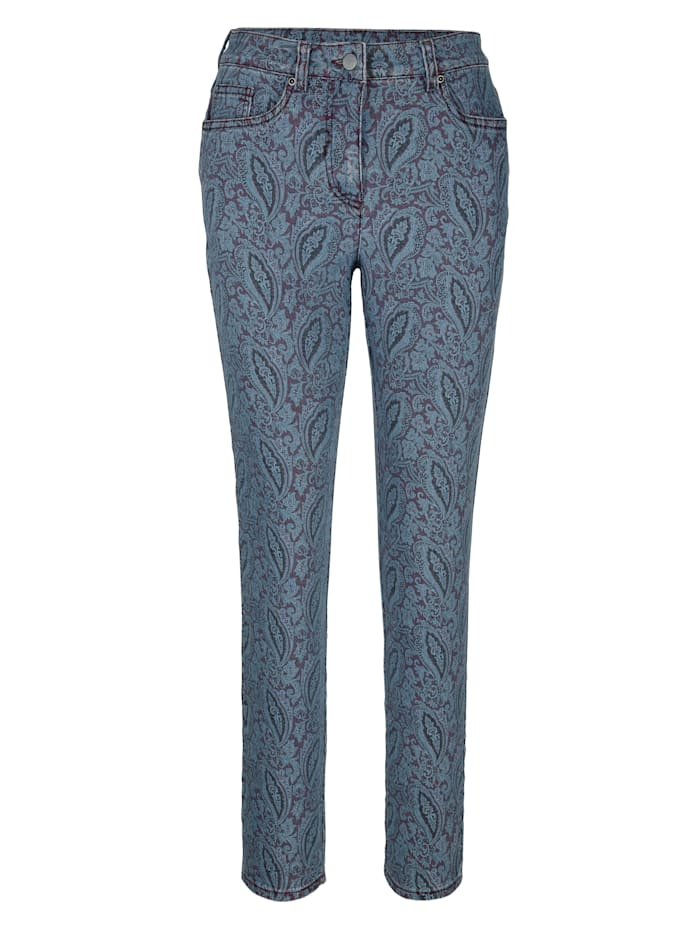 Jeans with a paisley print