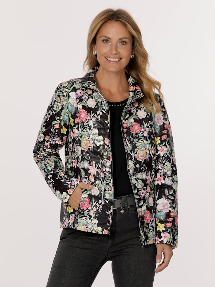MONA Jacke mit Allover-Druck, Schwarz/Multicolor