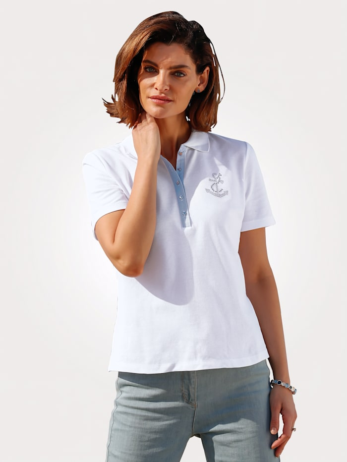 Polo shirt in pure cotton