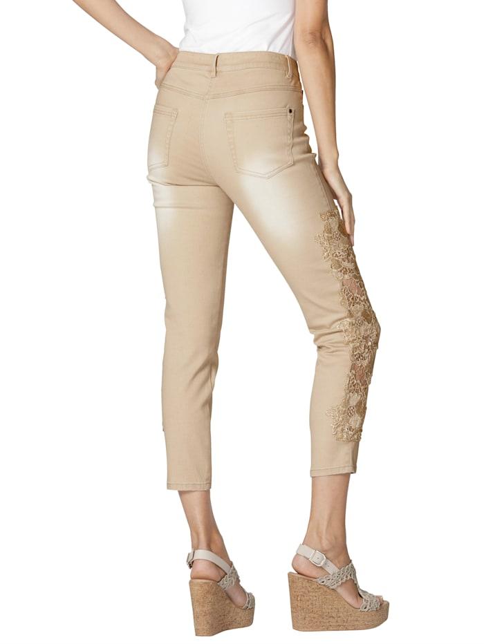 Jeans med blonder