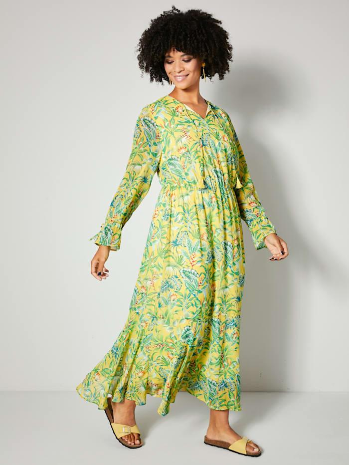 Robe longue avec lien élastiqué à la taille