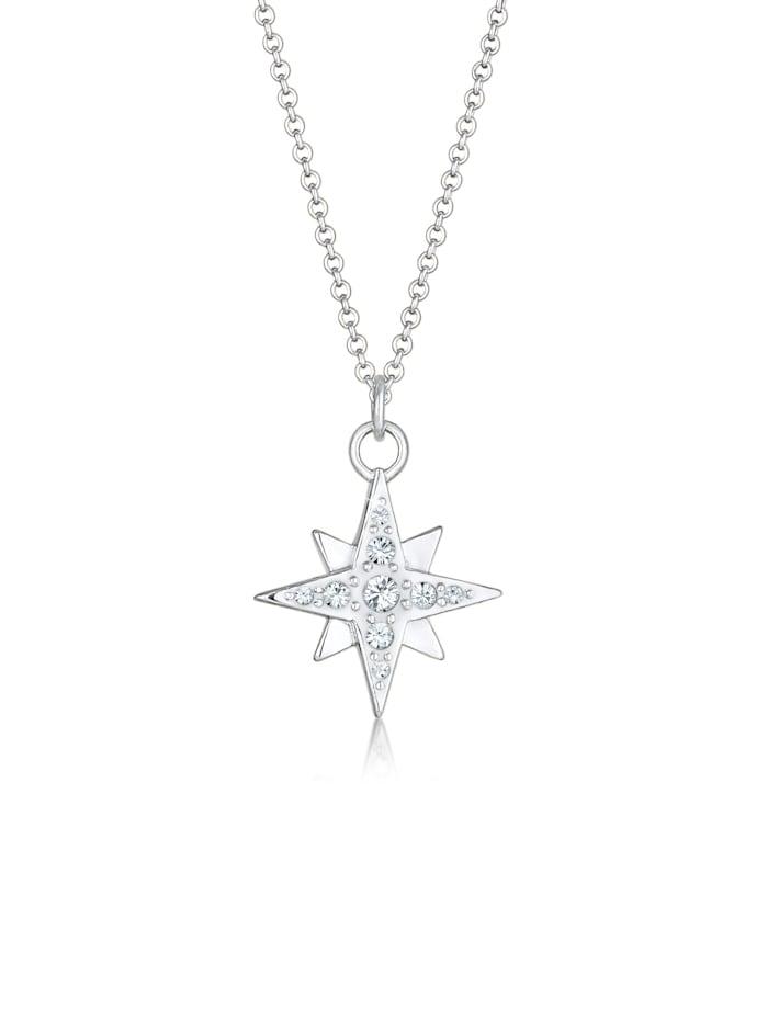 Nenalina Halskette Stern Astro Basic Swarovski® Kristalle 925 Silber, Silber
