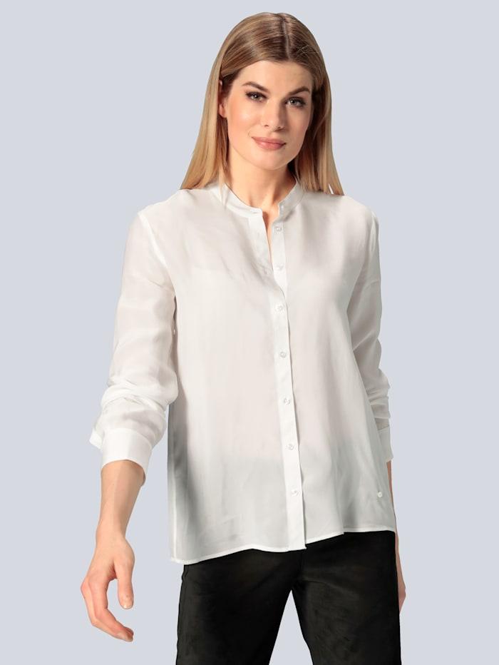 BRAX Bluse in fließender Ware, Weiß
