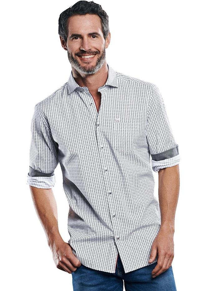 Engbers Elastisches Langarmhemd, Marineblau