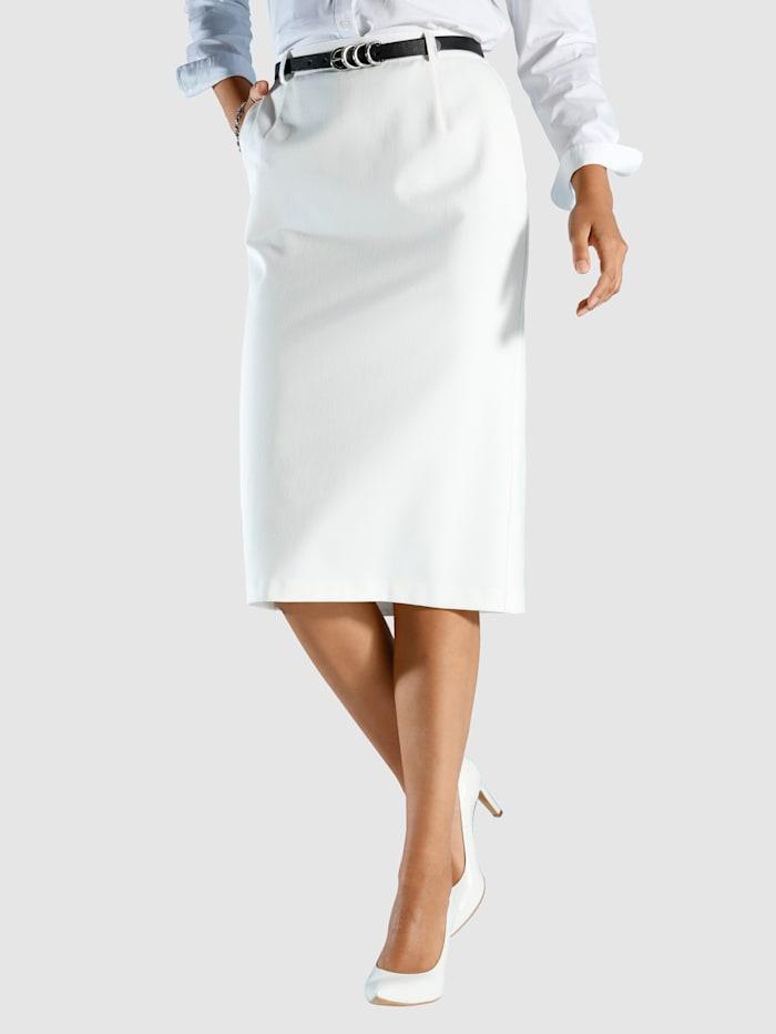 m. collection Klassisk kjol i elastiskt material, Crèmevit
