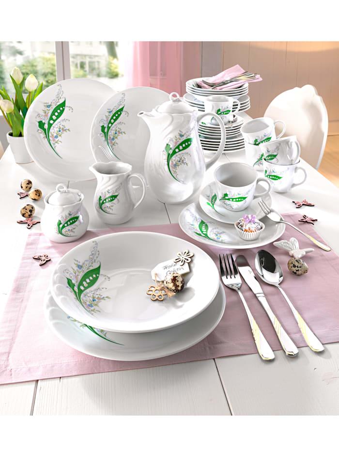 Kaffeservis i 18 delar – Daphne, med liljekonvaljdekor