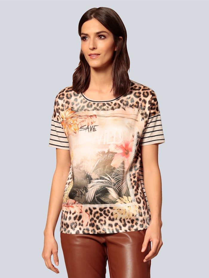 OUI Shirt im Materialmix, Sand