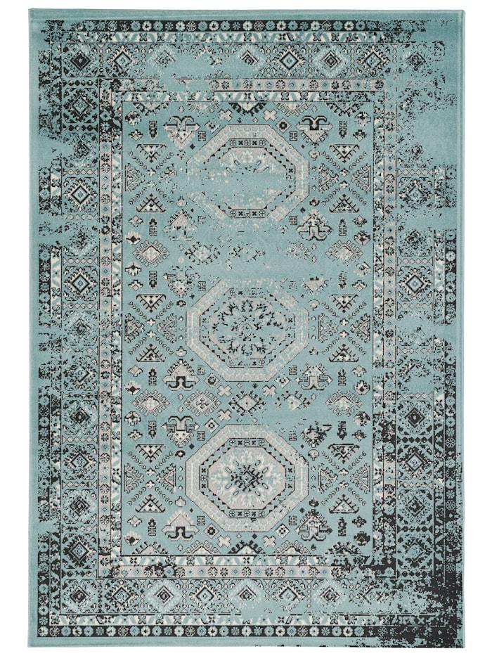 Pergamon Designer Teppich Pop-Vintage Orient Modern, Türkis