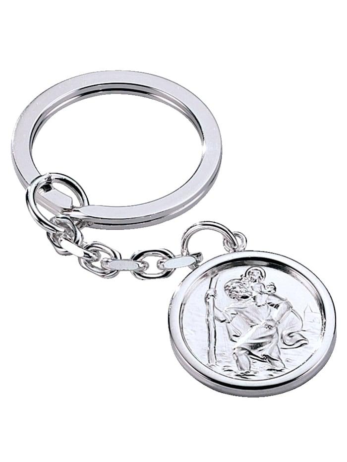 Schlüsselanhänger in Silber, Weiß