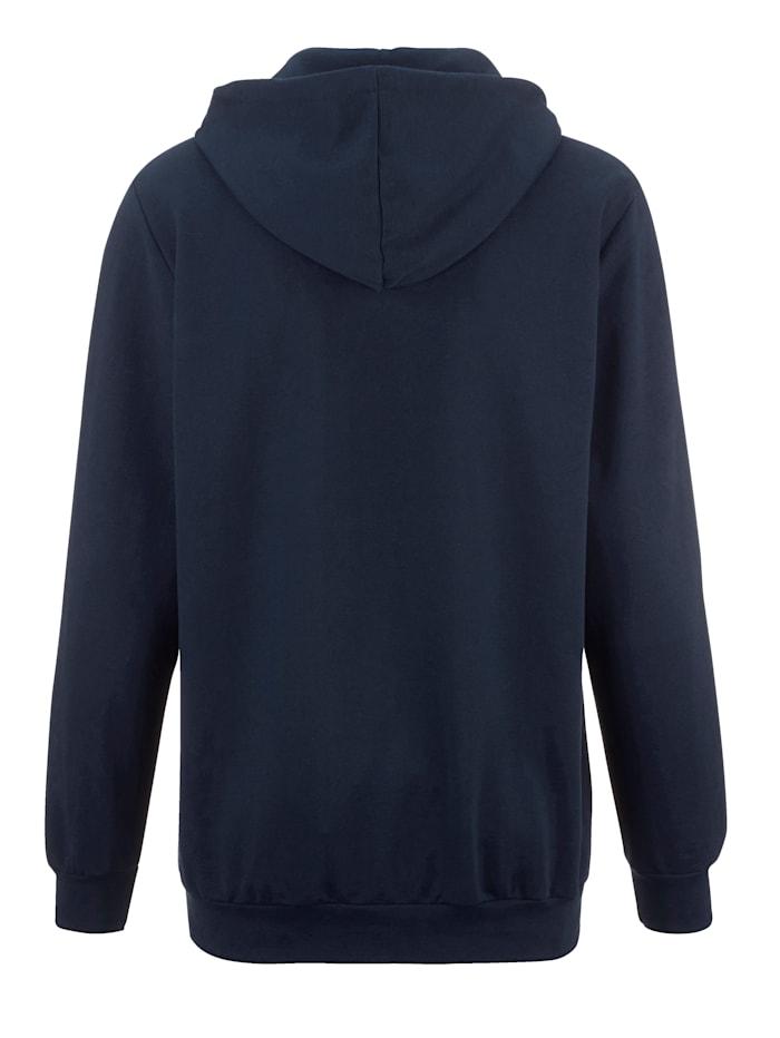 Sweat-shirt à capuche façon hoodie