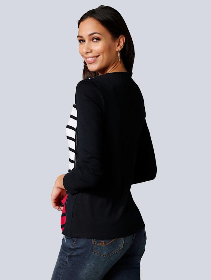Tričkový kabátik s prúžkovaným vzorom