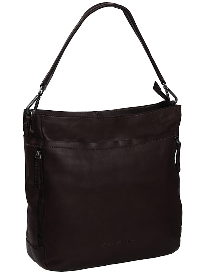 The Chesterfield Brand Wax Pull Up Lizzy Schultertasche Leder 34 cm, braun