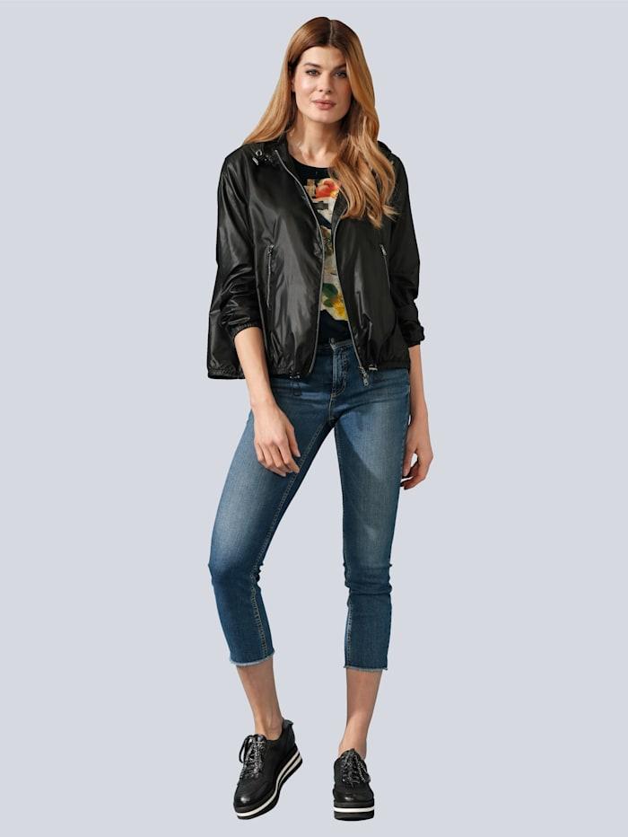 CAMBIO Jeans mit Schmuckband, Blue bleached