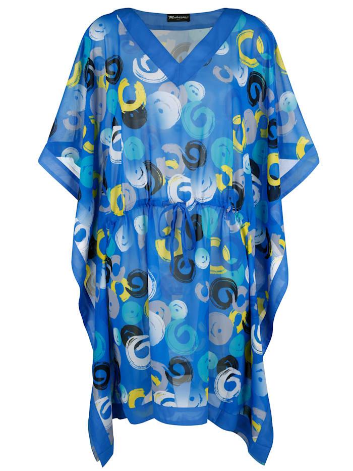 Maritim Tunique de style poncho, Turquoise/Bleu/Jaune