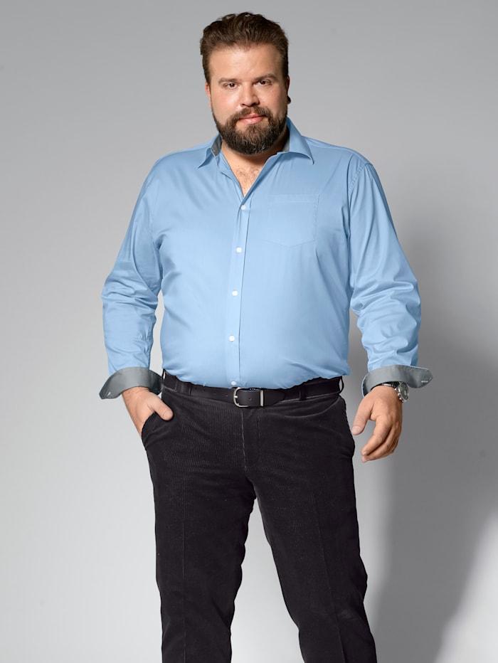 Men Plus Hemd Spezialschnitt, Hellblau