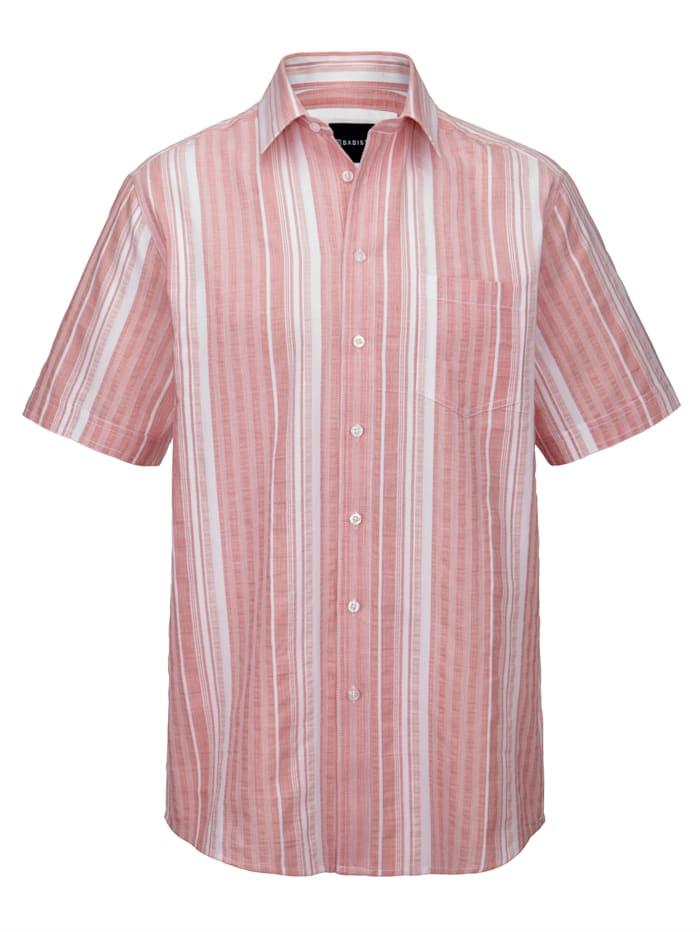 BABISTA Overhemd met ingeweven streepdessin, Lichtrood