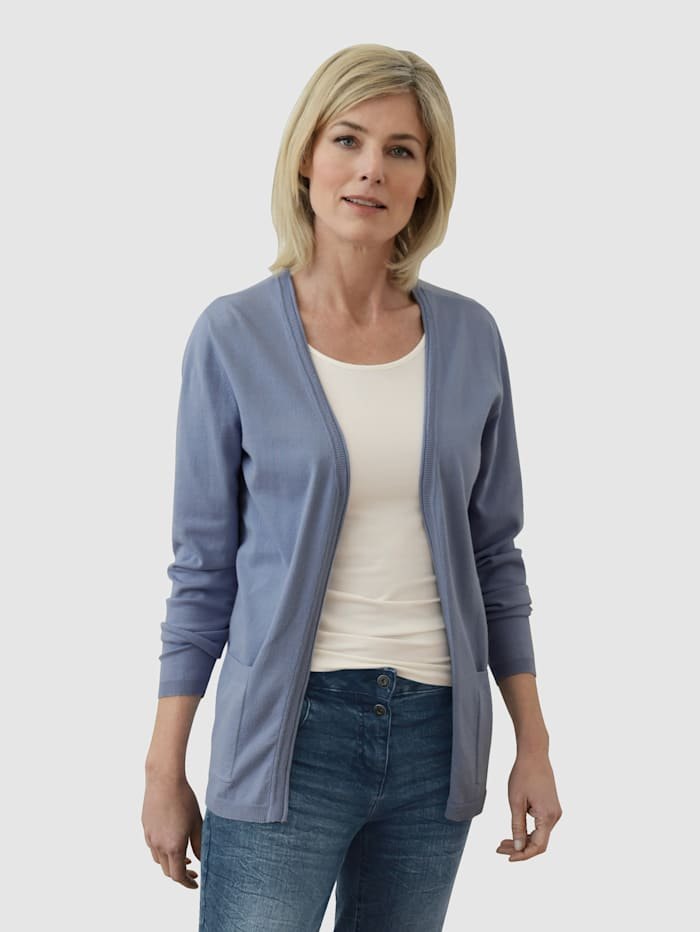 Dress In Kofta i öppen modell utan knäppning, Rökblå