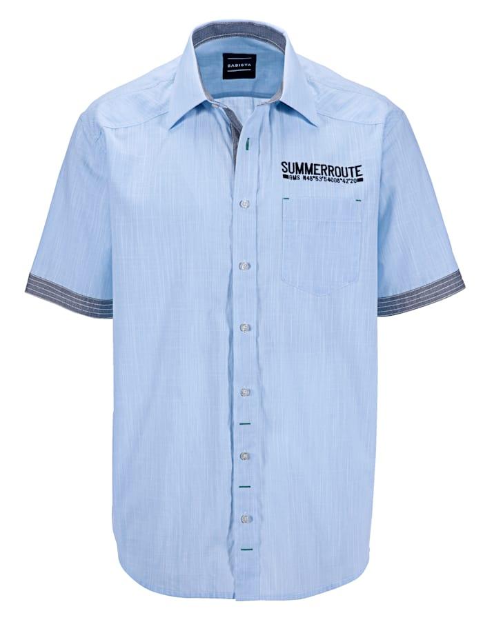 BABISTA Košeľa v ľahkej kvalite, Modrá