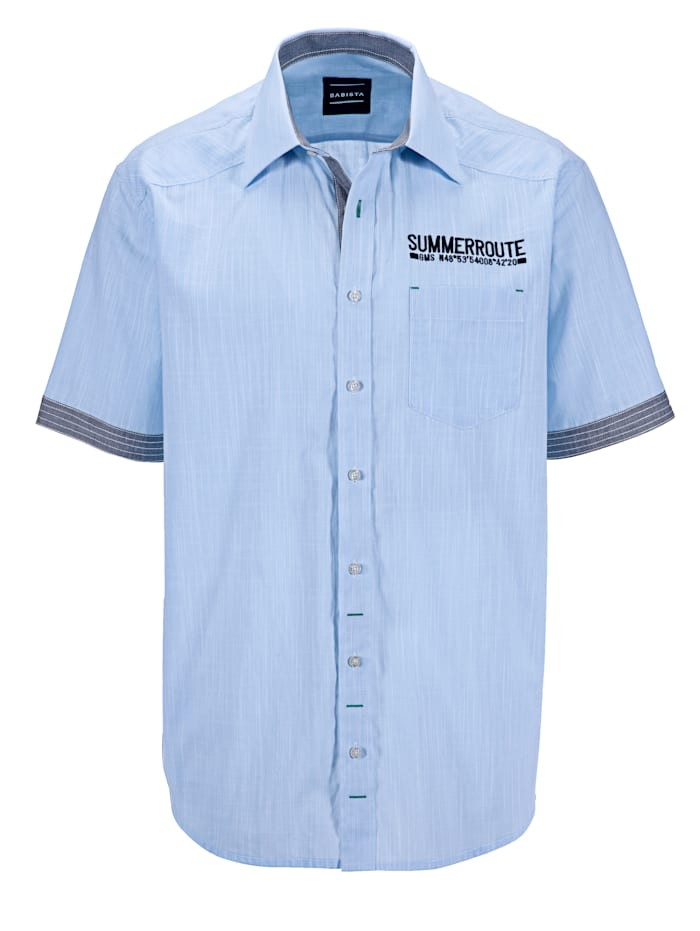BABISTA Skjorte med korte ermer, Blå