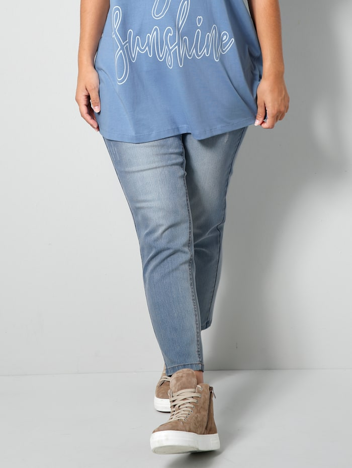 Janet & Joyce Jeans Slim Fit, Blau