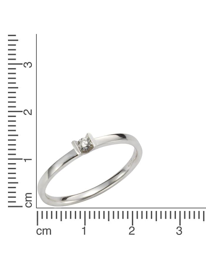 Ring 585/- Gold Brillant weiß Brillant Glänzend 0,07 ct. 585/- Gold