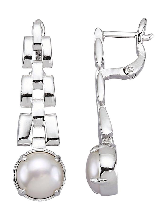 AMY VERMONT Ohrringe mit Süßwasser-Zuchtperlen, Weiß