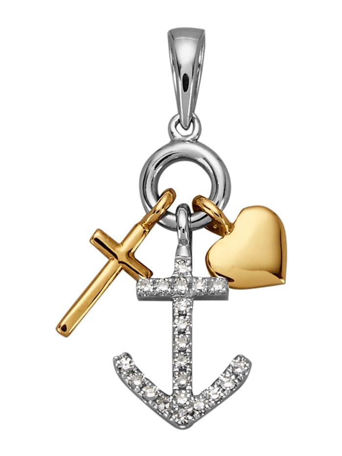 Diemer Diamant Anhänger mit Diamanten, Multicolor