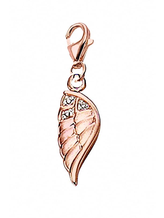 1001 Diamonds 1001 Diamonds Damen Silberschmuck 925 Silber Charms Anhänger Flügel mit Zirkonia, silber