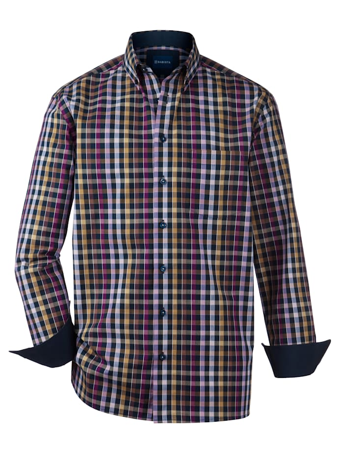 BABISTA Overhemd met verschillende dessins, Marine/Camel/Roze