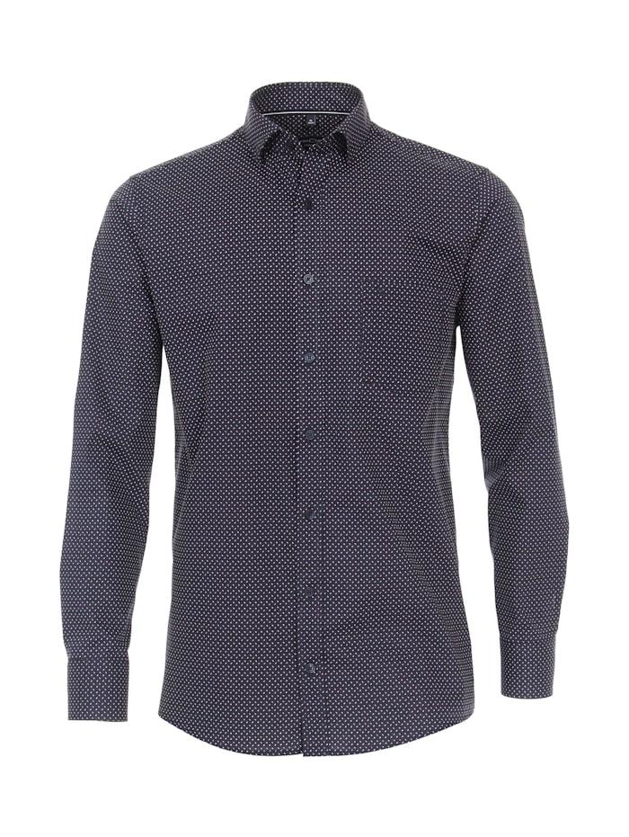 CASAMODA Hemd Print Comfort Fit, 100 blau