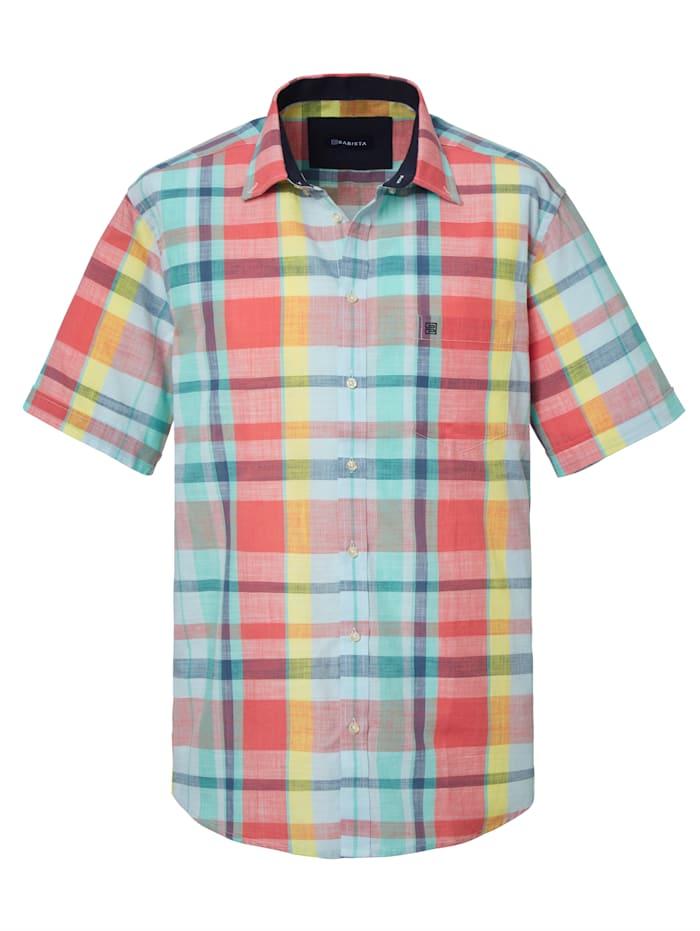 BABISTA Rutig skjorta i sommarlätt material, Korall/Mint