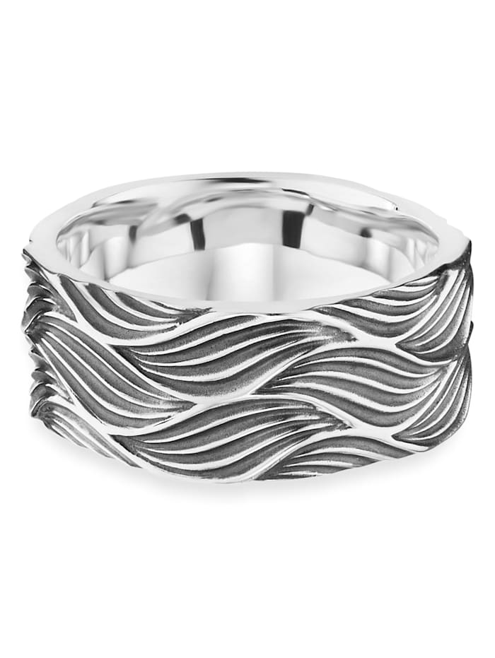 CAI Ring 925/- Sterling Silber ohne Stein oxydiert 925/- Sterling Silber, weiß