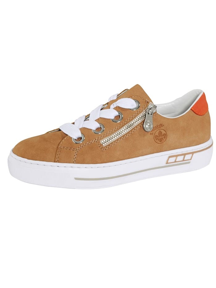 Rieker Plateausneaker in Nubuk-Optik, Beige