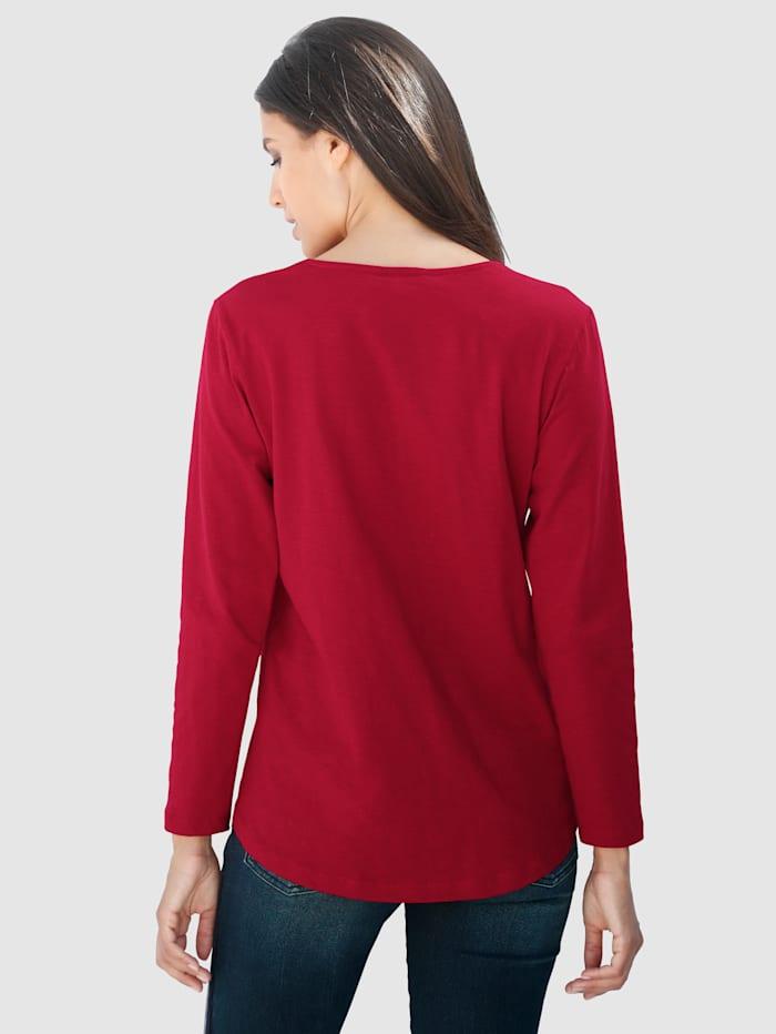 T-shirt à bande de coloris contrastant
