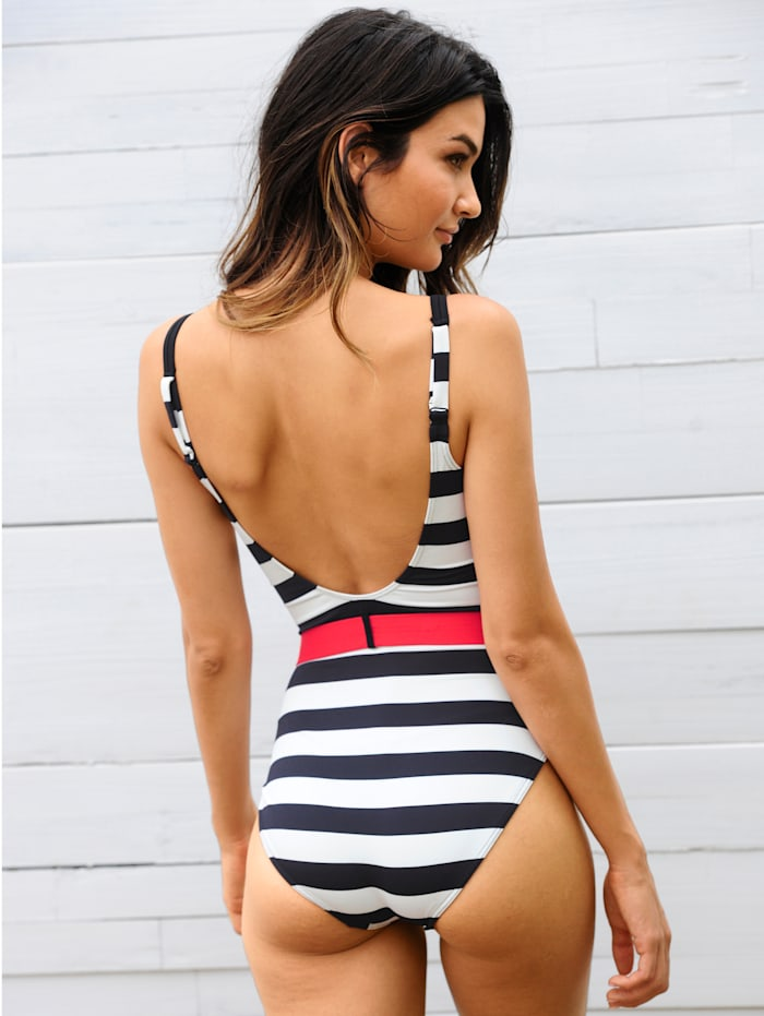 Badeanzug mit Gürtel